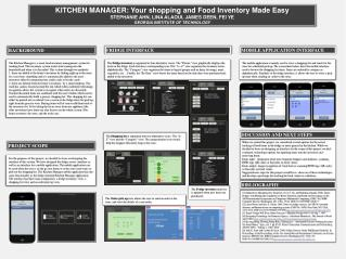 KITCHEN MANAGER: Your shopping and Food Inventory Made Easy