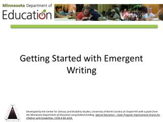 Getting Started with Emergent Writing