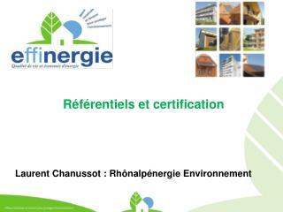 Référentiels et certification