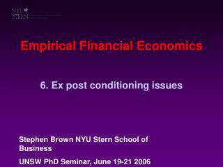 Empirical Financial Economics
