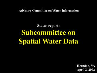 Advisory Committee on Water Information