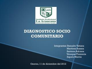 DIAGNOSTICO SOCIO COMUNITARIO