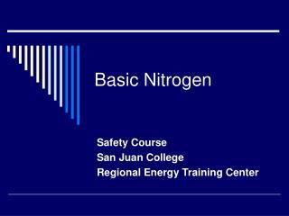 Basic Nitrogen