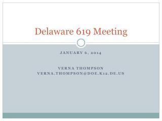 Delaware 619 Meeting