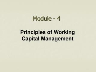 Module - 4