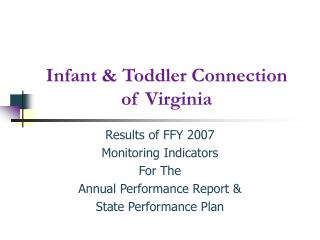 Infant & Toddler Connection of Virginia