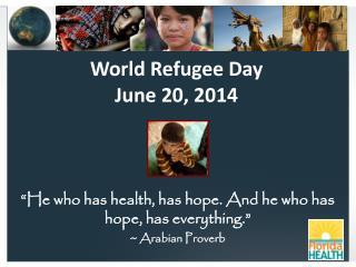 World Refugee Day  June 20, 2014