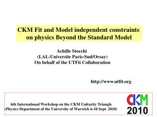 CKM Fit and Model independent constraints  on physics Beyond the Standard Model