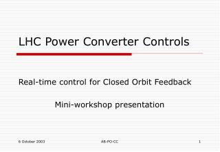 LHC Power Converter Controls