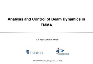 Analysis and Control of Beam Dynamics in EMMA