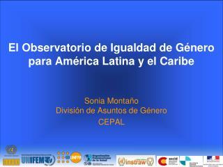 El Observatorio de Igualdad de G�nero para Am�rica Latina y el Caribe