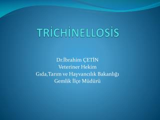 TRİCHİNELLOSİS