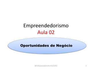 Empreendedorismo  Aula 02