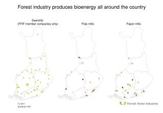 Forest industry produces  bioenergy  all around the country
