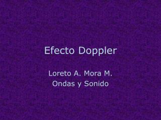 Efecto Doppler