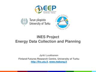 INES Project Energy Data Collection and Planning