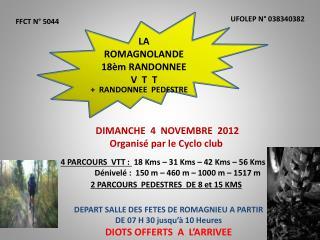 LA ROMAGNOLANDE   18èm RANDONNEE   V  T  T