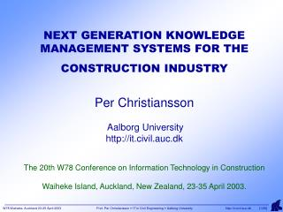 CONTENT •INTRODUCTION •EXISTING AND EMERGING ICT TOOLS •ICT IN THE BUILDING PROCESS