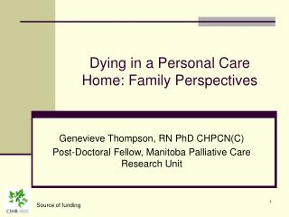 Dying in a Personal Care Home: Family Perspectives