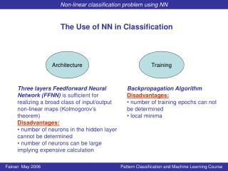 The Use of NN in Classification