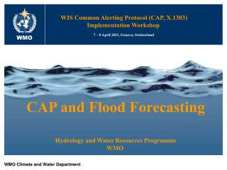 WMO Climate and Water Department