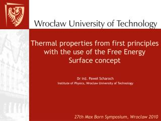 Thermal properties from first principles with the use of the Free Energy Surface concept