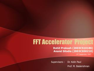 FFT Accelerator  Project