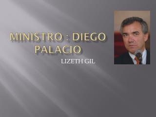 MINISTRO : DIEGO PALACIO