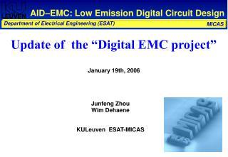AID–EMC: Low Emission Digital Circuit Design