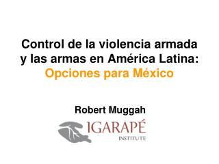 Control de la violencia armada y las armas en América Latina:  Opciones para México