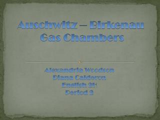 Auschwitz � Birkenau Gas Chambers