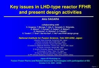 A.Sagara, J.Plasma Fusion Research, 74 (1998)  pp.947-951.