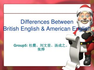 Differences Between British English & American English
