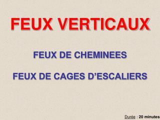 FEUX VERTICAUX FEUX DE CHEMINEES FEUX DE CAGES D'ESCALIERS