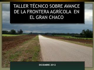 TALLER TÉCNICO SOBRE AVANCE DE LA FRONTERA AGRÍCOLA  EN EL GRAN CHACO