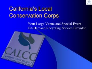 California's Local  Conservation Corps