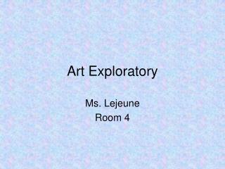 Art Exploratory
