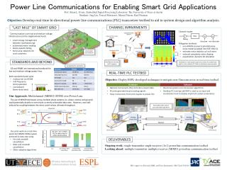 Power Line  Communications for Enabling Smart Grid Applications