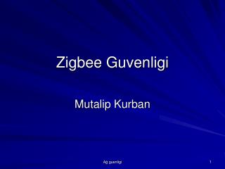Zigbee Guvenligi