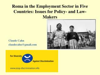 Roma in the Employment Sector in Five Countries: Issues for Policy- and Law-Makers