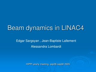 Beam dynamics in LINAC4