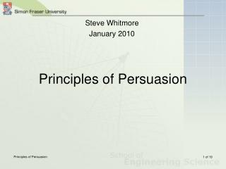 Principles of Persuasion