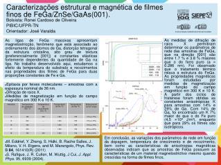 Epitaxia por feixes moleculares – amostras com a espessura nominal de 36 nm. Difração de raios X.