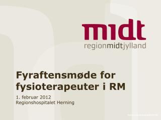 Fyraftensm�de for fysioterapeuter i RM