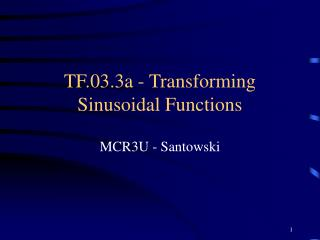 TF.03.3a - Transforming Sinusoidal Functions