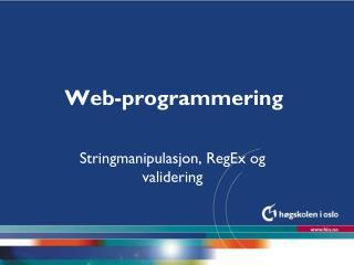 Web-programmering