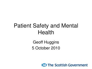 Patient Safety and Mental Health