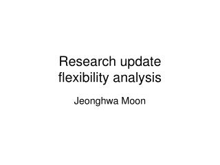Research update flexibility analysis
