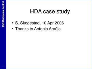 HDA case study