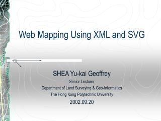 Web Mapping Using XML and SVG